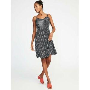 NWT Old Navy  Fit & Flare Geometric Pattern Dress